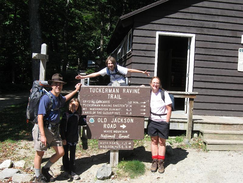 The Tuckerman ravine trail.